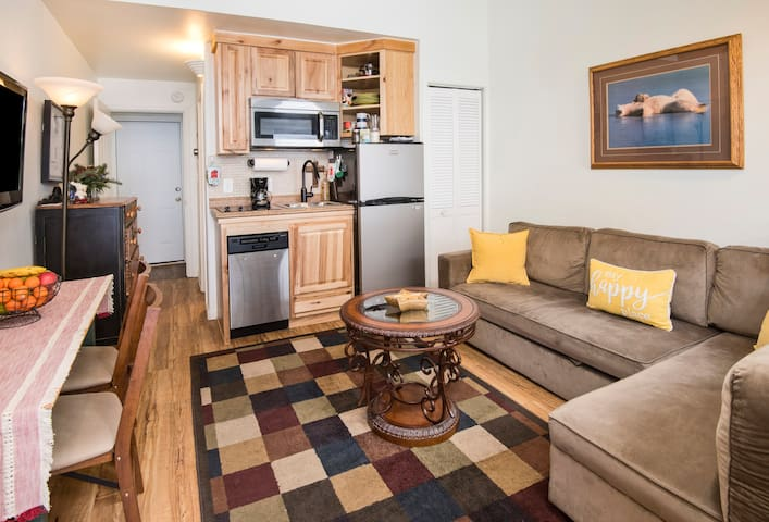 Cozy 1 br on a free bus stop, minutes from village