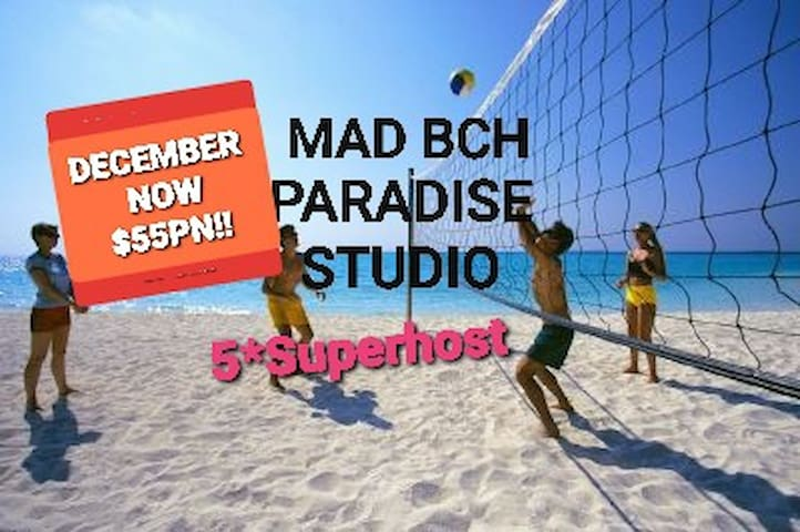 Mad Bch Paradise Studio*DEC NOW$55PN