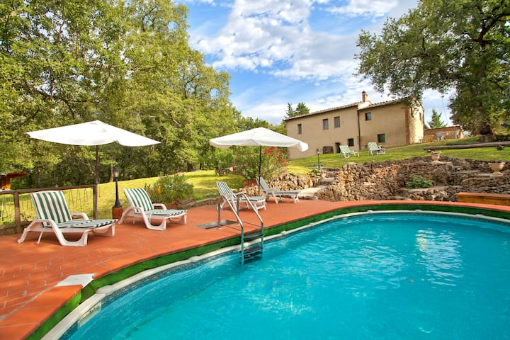 Idyllic Cottage near Siena with pool only for You