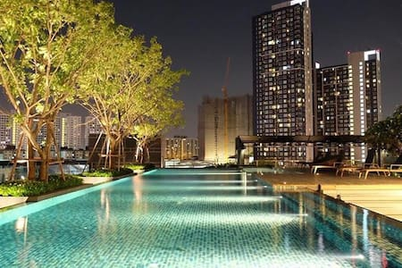 ROOFTOP POOL GYM SUKHUMVIT BTS RIVER VIEW BKK - Bangkok