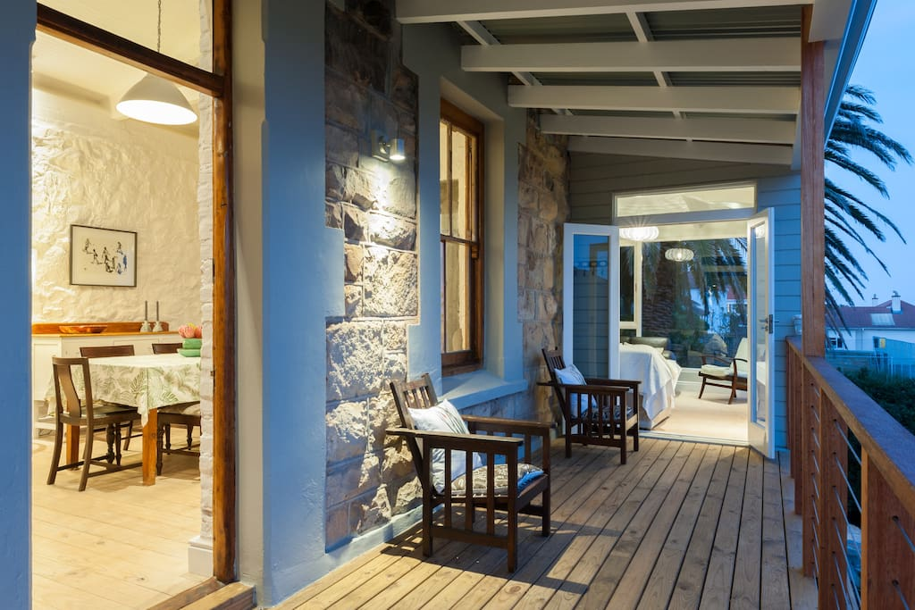 Beautiful views over False Bay - front deck and entrance