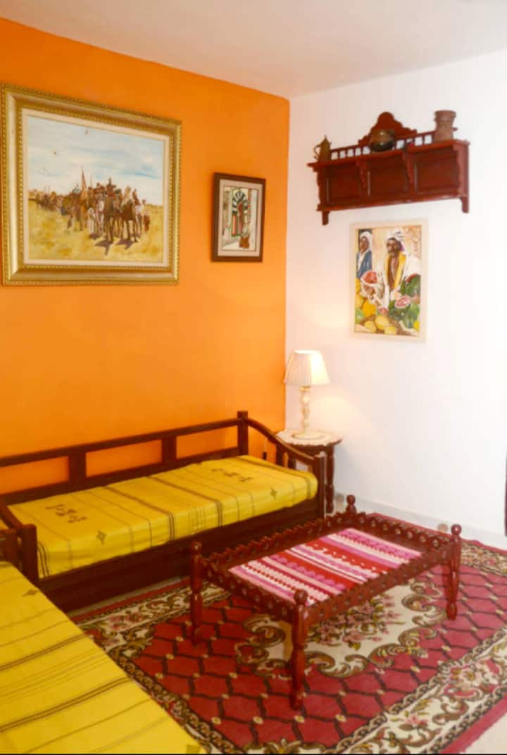 Apartment with 2 bedrooms in Tunis, with terrace and WiFi - 4 km from the beach