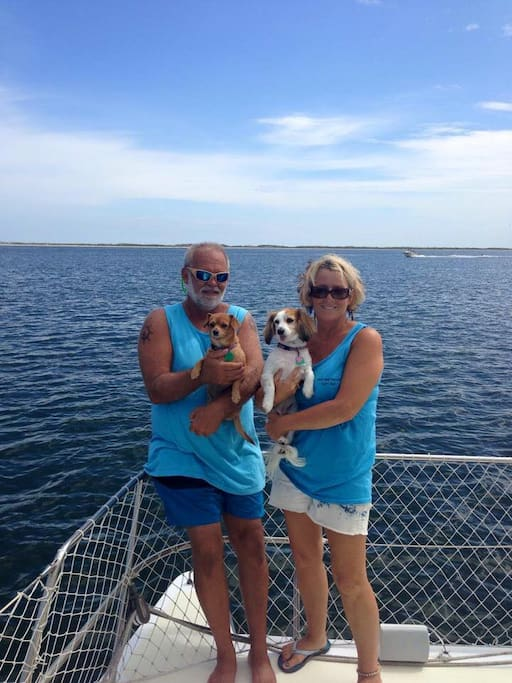Your host's Captain's Randy & Kathy with crew Lexi & Gracie