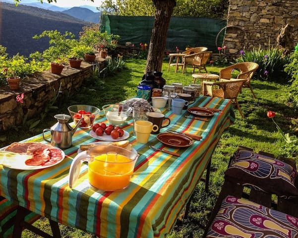 Podrás desayunar en el jardín