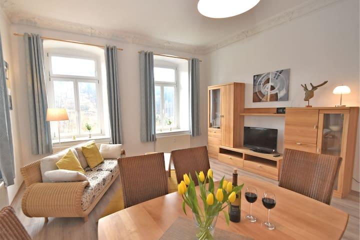 Apartamento con encanto cerca de Borstendorf con una gran terraza