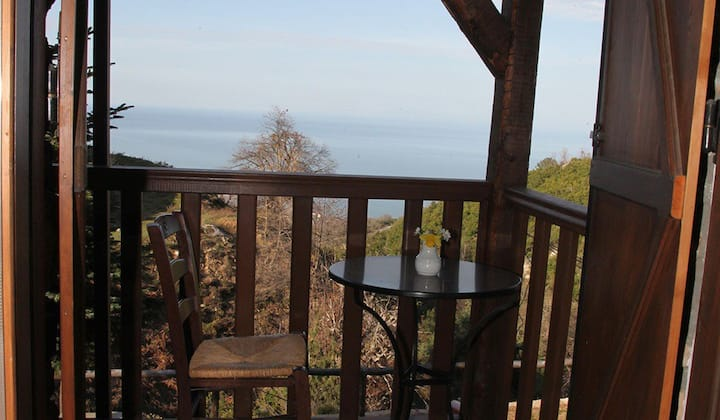 Double Room Sea View in Kastania-Gi at Olymp