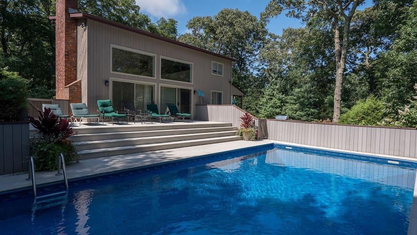 New Listing: Laid-Back East Hampton Home w/ Private Heated Pool, Sun Porch, Walk to Maidstone Beach