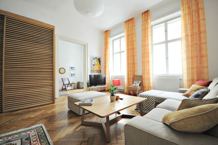 "A charming apt. in Vienna's ""Little Paris"" quarter"