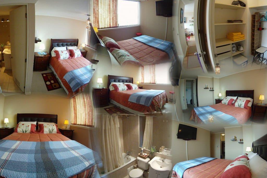 Habitación privada 2 Per, baño privado - Foto Junio 2015
