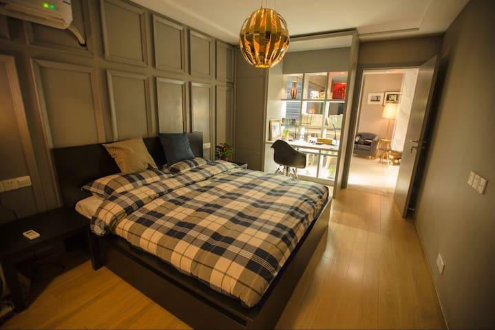 时光一号(五爱广场地铁口近市中心惠山古镇老房改造美式风格2室1厅) - Wuxi - Apartment
