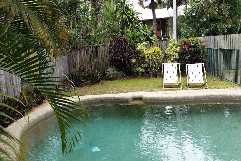 Tropical in-ground pool