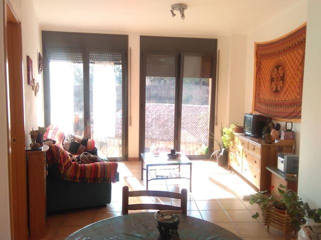 Habitació individual en pis acollidor - マンレサ - アパート