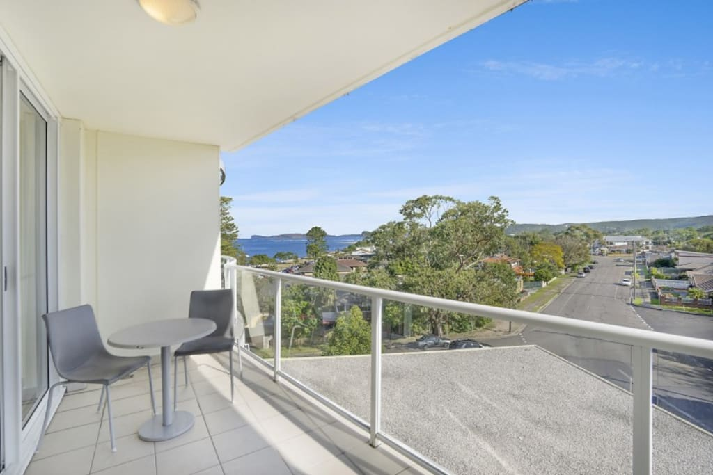 Private balcony with Hinterland Views