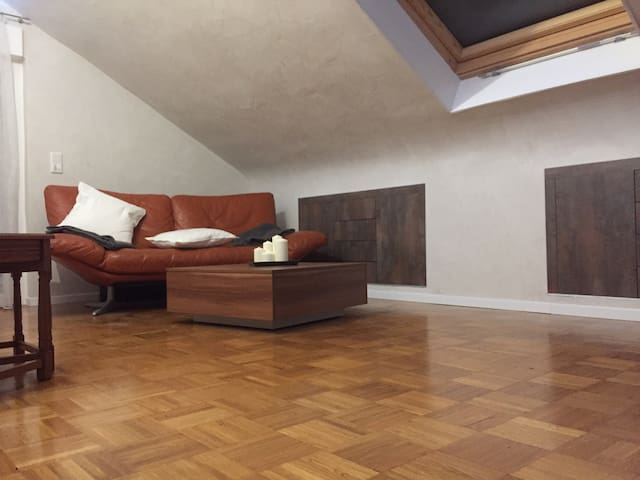 Big Attic Sleep Room with Bathroom & Kitchen - Gerlingen - Apartment