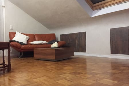 Big Attic Sleep Room with Bathroom & Kitchen - Gerlingen - Квартира