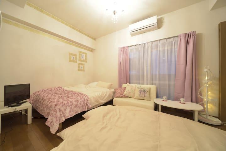 New!!Osaka Namba  Princess Room Osaka freeWifi EX6 - 大阪市 - Departamento