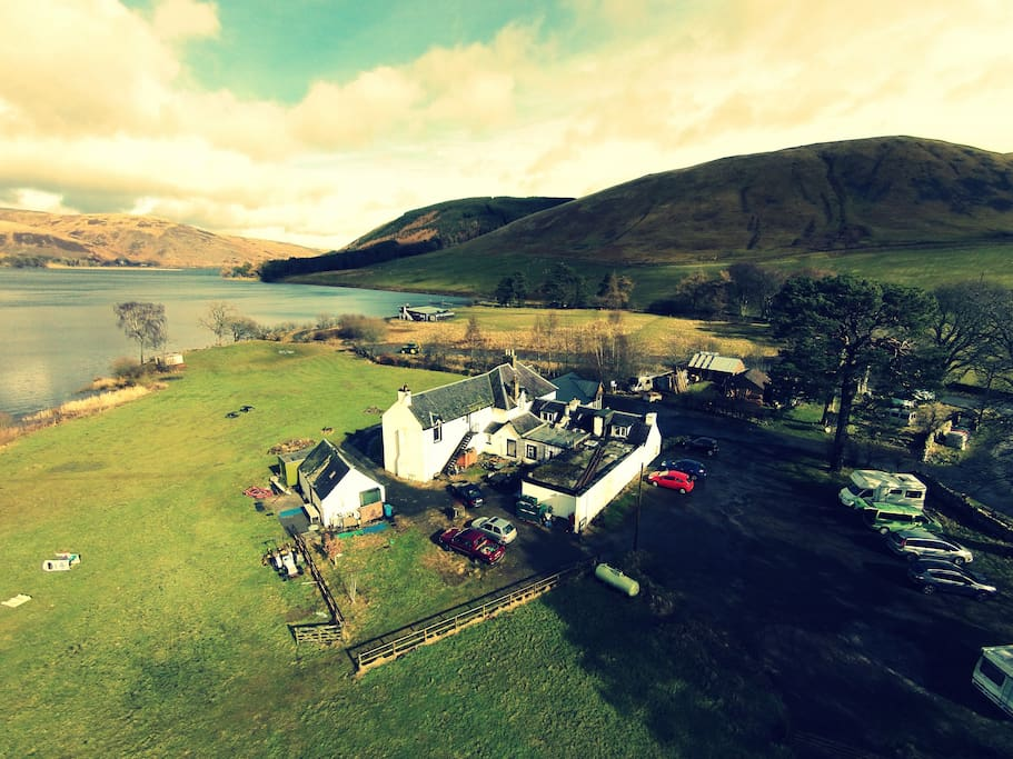 Set Between two Lochs, One of the most stunning settings in the World!!