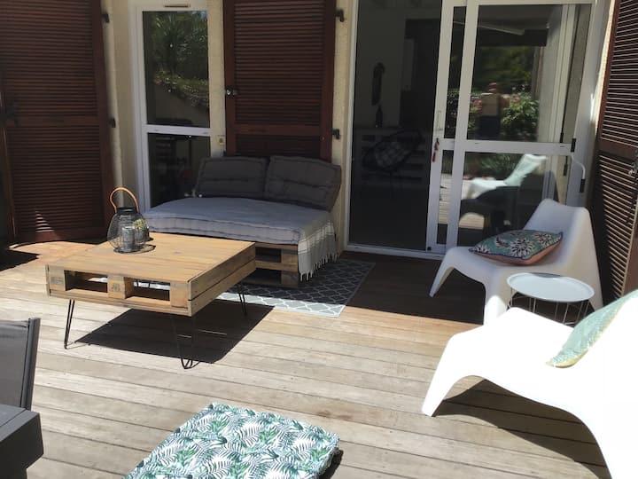 Villa patio penon ,calme .200m plage