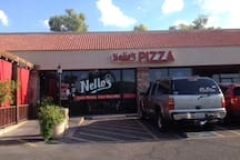 3 minutes away, award-winning local pizza