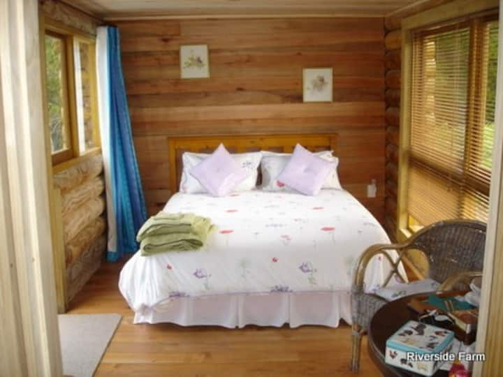 A log cabin - your private retreat on 125 acres.