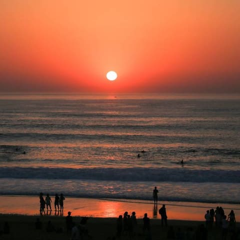 Coucher de soleil vue terrasse