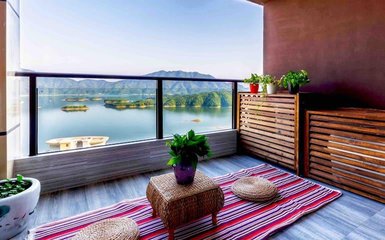 【有间雅阁】千岛湖珍珠半岛29层全湖景公寓。闲来雅坐观山看水赏风景,枕水而居伴月而眠。