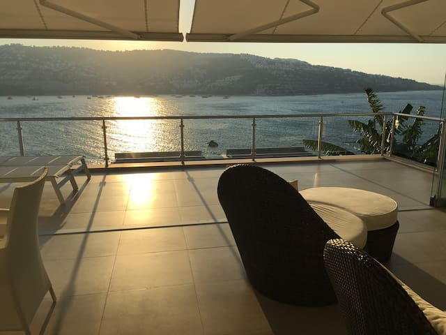 Sea House in Bodrum with sea view and sea beach