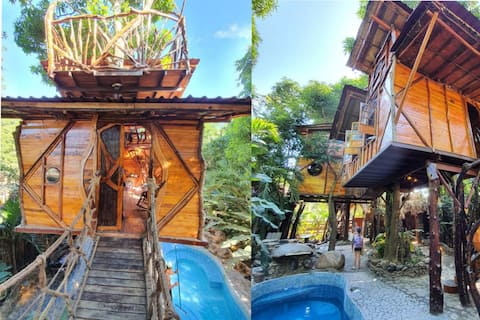 Luxury Treehouse!  Swimming Pool! Close to Beach!