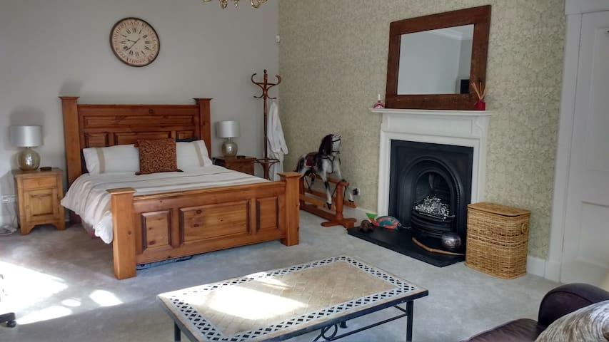 Large room in spacious West End apt - Edinburgh - Bed & Breakfast