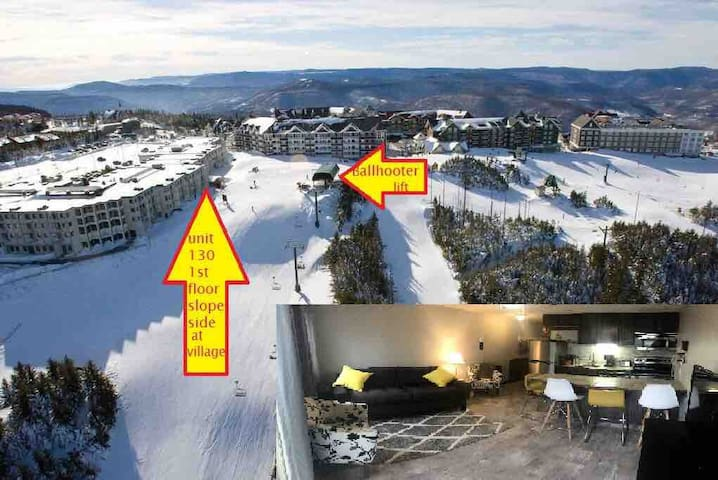 UPDATED! 1st Fl, slopeside, Ski I/O. Slp 4ad/2chd