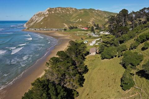 Secluded coastal location. Prime beach location