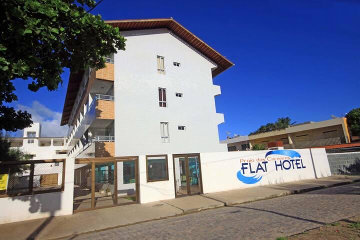 Flat208 à 20m PraiaDCarneiros FRENTE PISC NATURAIS