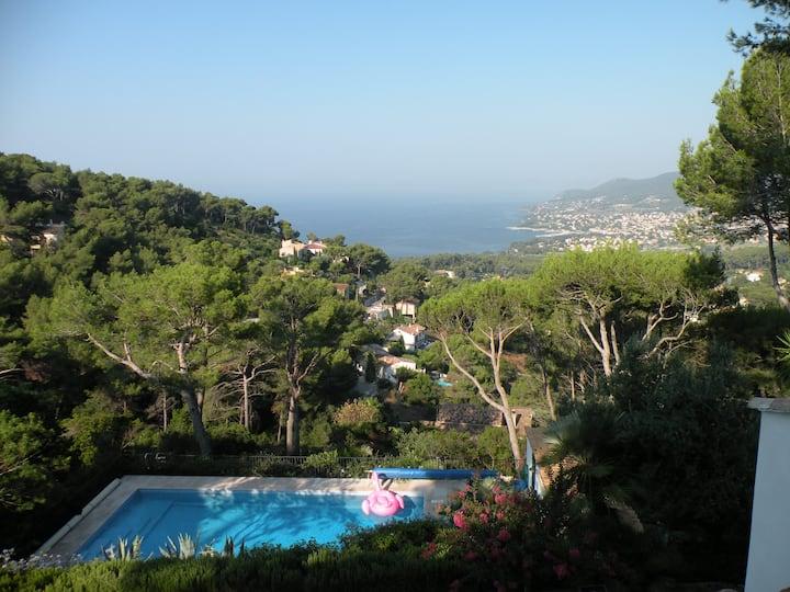 """Mesomax"" - Ground floor, villa, sea view, pool"