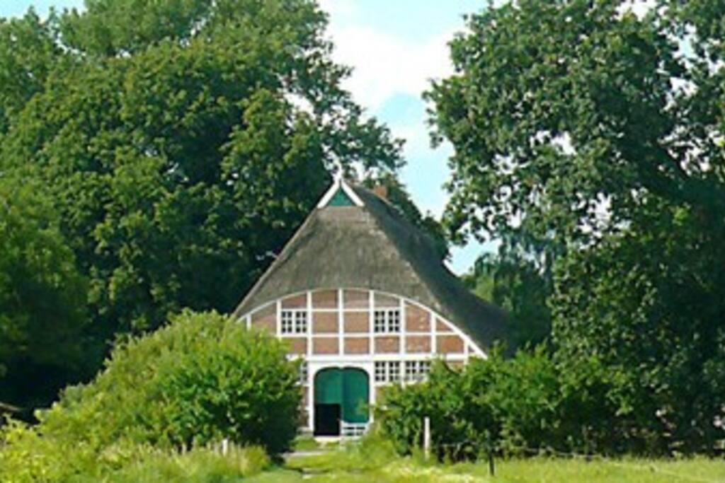 Südansicht des Bauernhauses