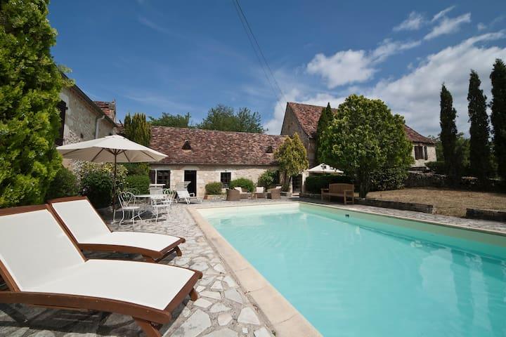 Superbe maison Quercy, piscine privée - Payrac - Casa