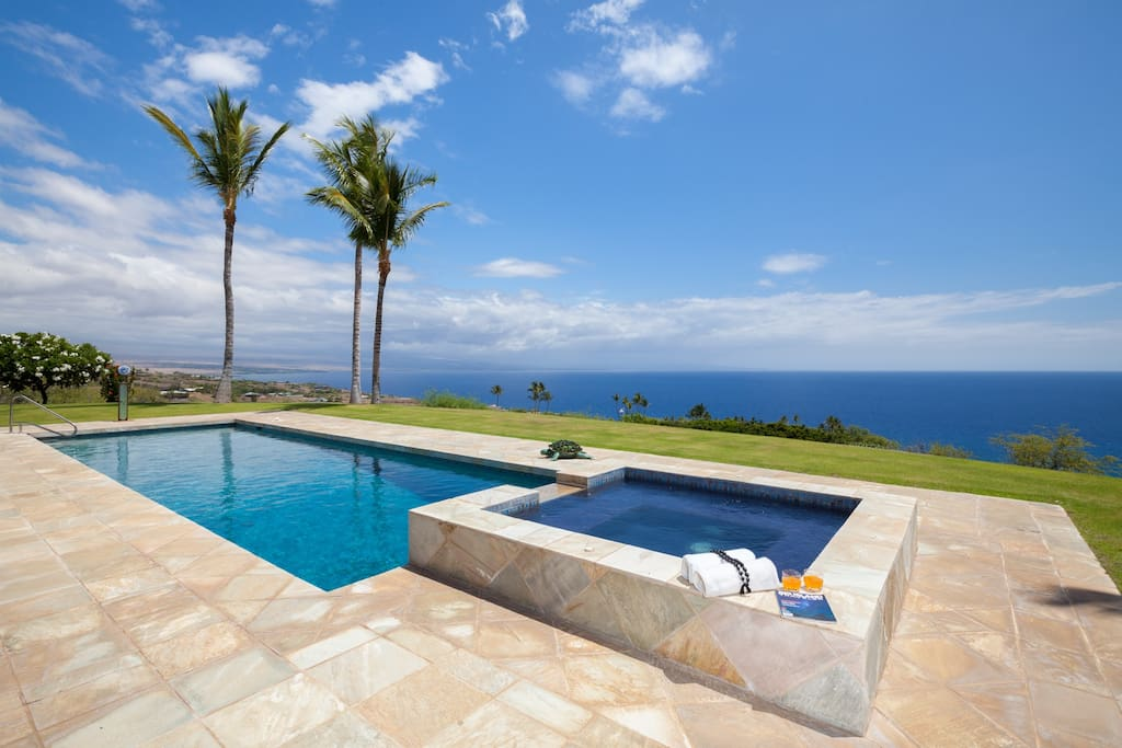 This home has it all...an oasis for swimming, soaking and indulging your senses with sweeping ocean views