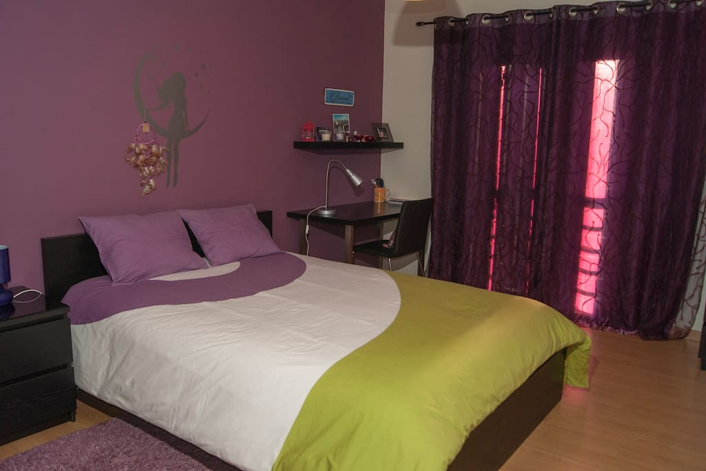 Your tastefully decorated bedroom with a very comfortable bed
