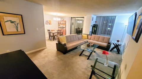 Two bedrooms apartment, Metro, Parking, Pool, GYM