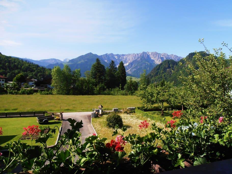 wunderbarer Ausblick zum Kaisergebirge