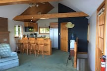 This is the view from the front windows looking into the kitchen area.