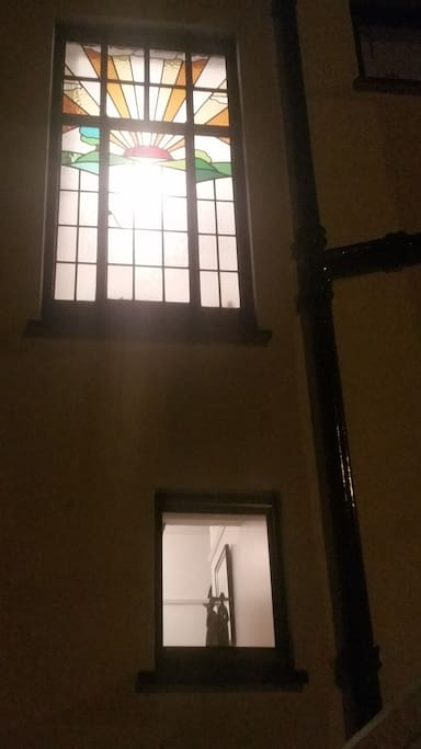 Art deco window from outside