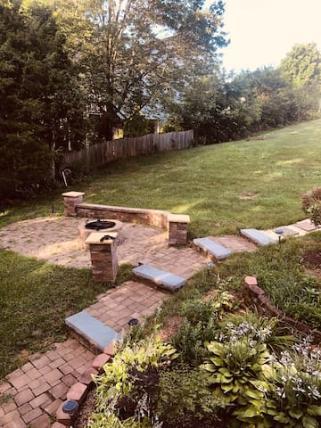 Side house fire pit