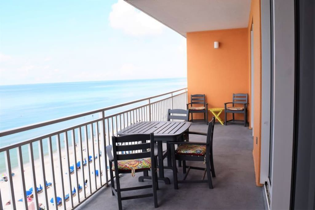 Sip Margaritas and watch the sunset on you very own private balcony!