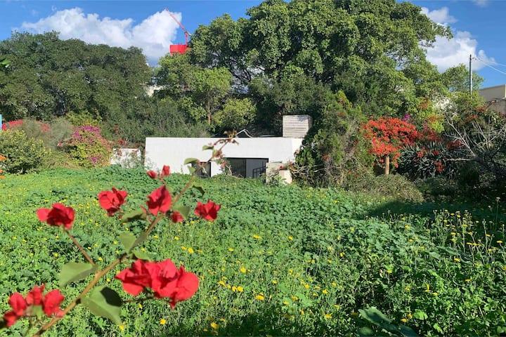 Santorini theme, Japanese decorated bungalow