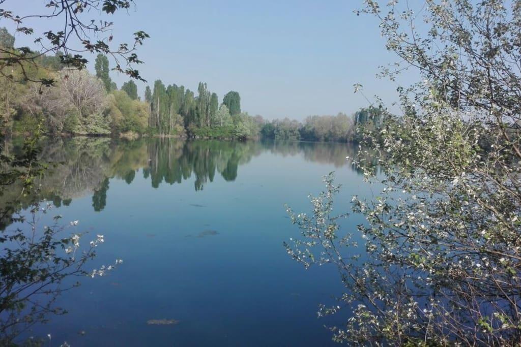 lago appena fuori casa
