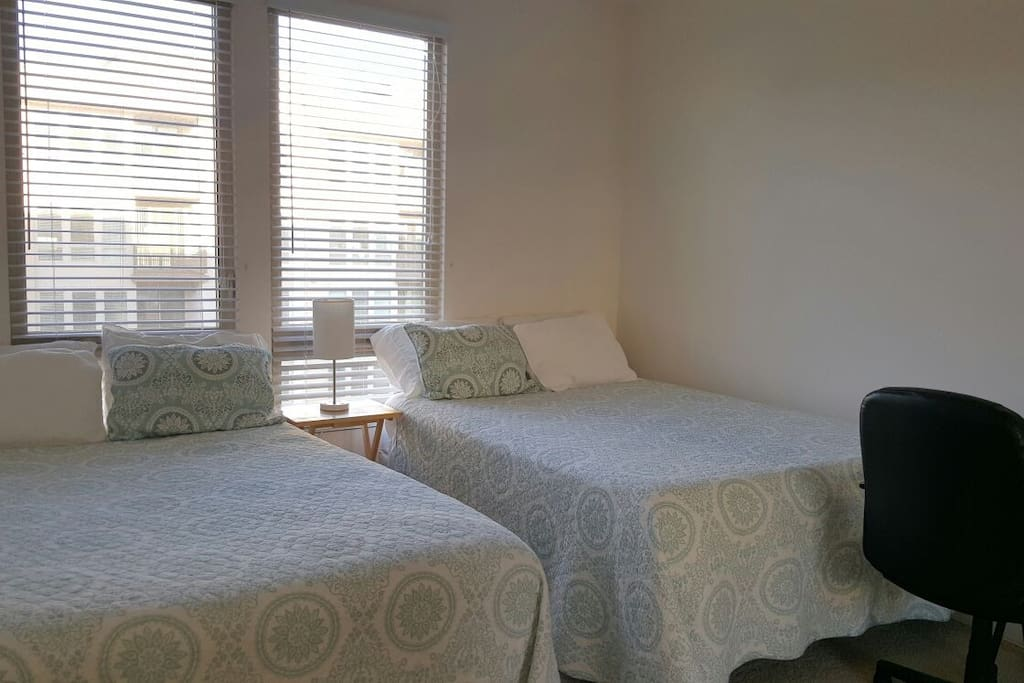 Private Room with Double Queen Beds. Sleeps 2 Adults.