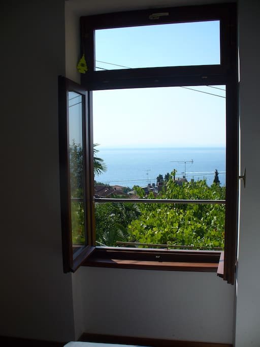 Sea view from the bedroom