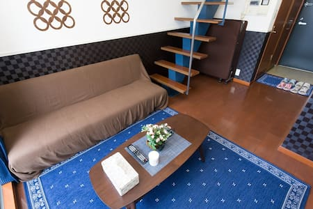 Maisonnette apt No.2 Osaka 2minSTA nr Namba TV+Int - Ōsaka-shi