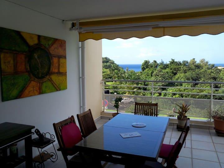 Appartement F3 en résidence, vue mer, très calme