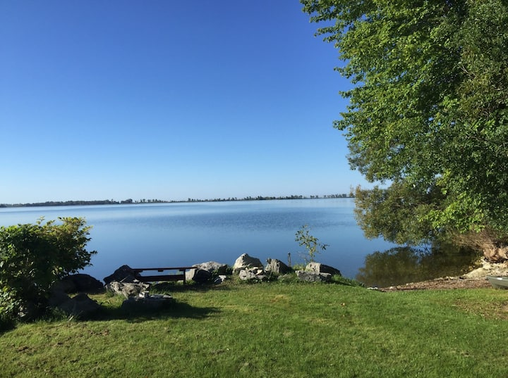 The Consecon - Family friendly West Lake Cottages shared waterfront